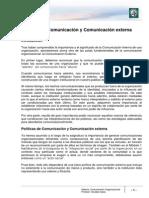 Lectura 13 - Políticas de Comunicación y Comunicación externa