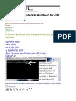Eliminar Virus de Acceso Directo en Tu USB