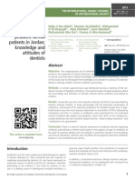 Prescribing Antibiotics for pediatric dental patients in Jordan; knowledge and attitudes of dentists