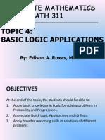 04_ECE MATH 311_Basic Logic Applications