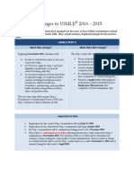 Changes to USMLE 2014-2015 Handout FINAL