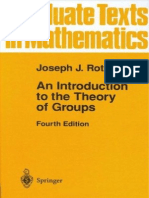 Joseph J. Rotman - An Introduction to the Theory of Groups