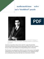 American Mathematicians Solve Ramanujan