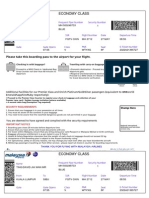Malaysia Airlines (MAS) Sample Boarding Pass