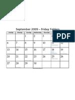 September Friday Folders