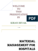Material Management For Hospitals