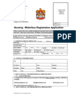 Nursing Midwies Application Form-2008