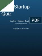 Lean Startup Quiz