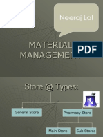 Store and Sub Store management in Hospital