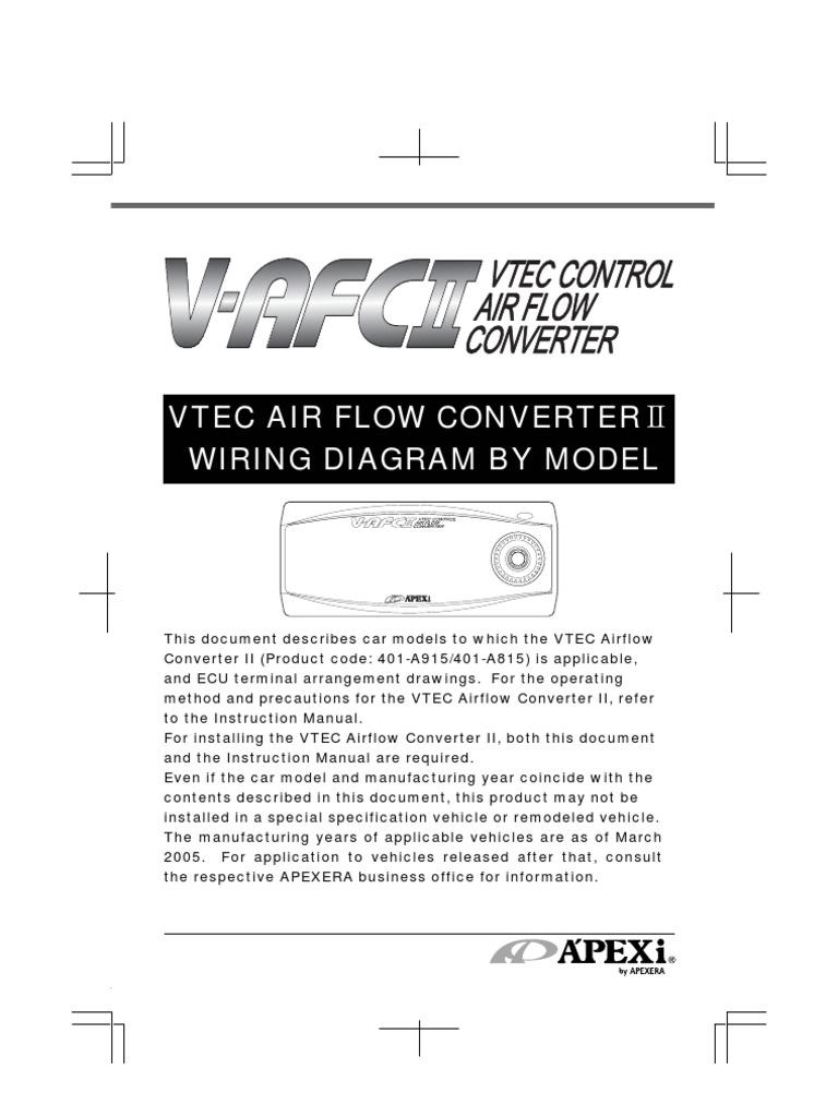 apexi installation instruction manual wiring diagram vtec airflow rh es scribd com ECU Circuits ECU Pinout