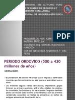 Periodo Ordovicico y Formaciones