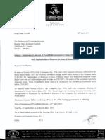 Postal Ballot Report  IMP Emmsons