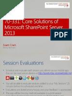 Microsoft 70-331 Exam Cram