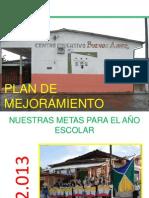PUBLICACIÓN METAS PLAN MEJORAMIENTO 2.013