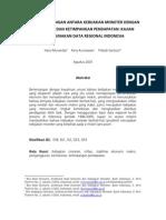 Hubungan Antara Kebijakan Moneter Dengan Kemiskinan Dan Ketimpangan Pendapatan Kajian Menggunakan Data Regional Indonesia