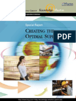 Case study Creating Optimal Supply Chain Sep2006