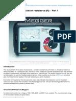 Electrical-Engineering-portal.com-Measurement of Insulation Resistance IR Part 1