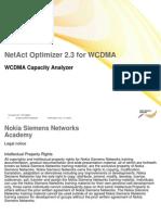 WCDMA Capacity Analysis OPT2.3