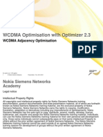 WCDMA Adjacency Optimisation OPT2.3