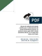 3. Informe validacion cloruros