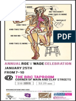 Roe v. Wade Celebration flyer