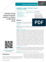 Prevalence of bacterial infection among hospital traumatic patients in relation to ABO blood group