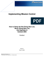 1. Implementing Mission Control in Outlook 2003