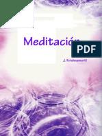 MEDITACIÓN (Jiddu Krishnamurti)