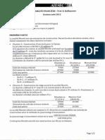 AIESEC Compta financière - exam août 2012