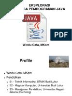 Eksplorasi Java