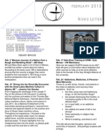 Lakeshore UU Newsletter Feb 2013