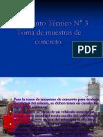 Documento Técnico N° 3 Toma muestra de concreto