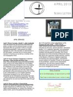 Lakeshore UU Newsletter APRIL 2013
