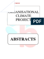 Abstracts - Organisational Climate