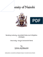 Banking Industry, Associated Risks and Mitigation Strategies