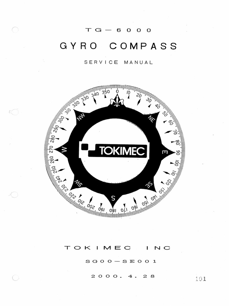 Tokimec tg 8000 service manual
