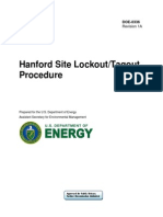 Lockout and Tagout Procedure for Site Temporary Supply System