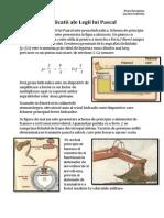 Aplicatiile Ale Legii Lui Pascal