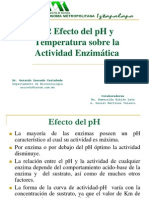 4.2 Efecto Del pH y Temperatura