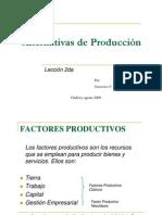 Alternativa de producción (lección 2)