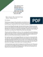 Judy Potter's Complaint to DA Anderson About Cape Elizabeth Events
