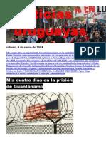 Noticias Uruguayas sábado 4 de enero del 2014