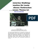 Strahlenfolter Stalking - TI - Eleanor White - OrGANISIERTES STALKING - Stopos.info Os-german