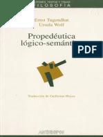 Tugendhat & Wolf - Propedéutica lógico-semántica