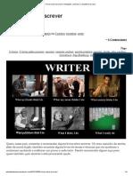 5 livros sobre escrever _ Anotações, e a estante lá de casa