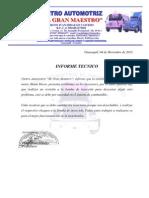 informe técnico de molemotor motobomba