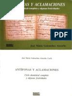 Antífonas  y Aclamaciones_Goicoechea