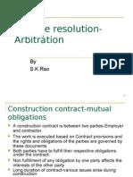Dispute Resolution Arbitration