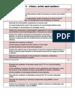 Module 1 Chemistry Checklist