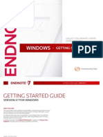 Windows Endnote X7 Starter Guide